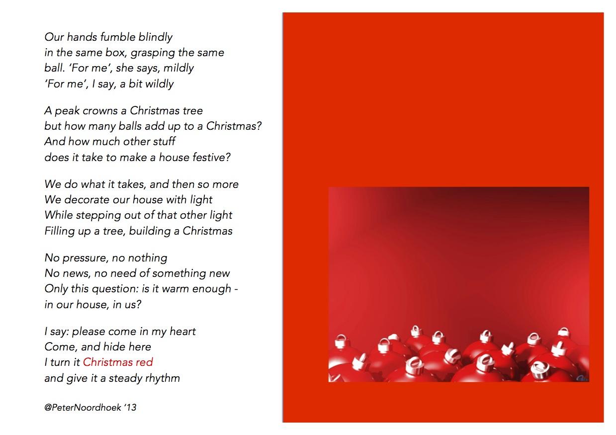 Christmas poem Peter noordhoek 2013